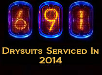 Drysuit Repairs Completed 2014