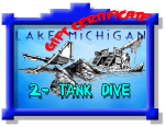 $115 Lake Michigan Dive Gift Certificate