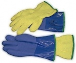 BLUE PVC Dry Suit Glove Replacement