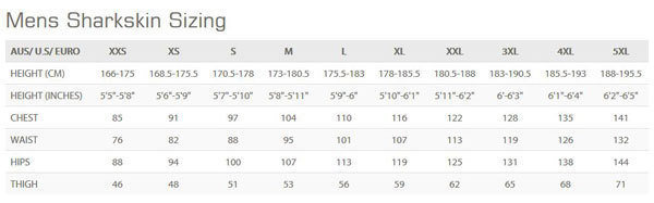 Female Size Chart for OPEN BOX Men's ChillProof Long Pants -