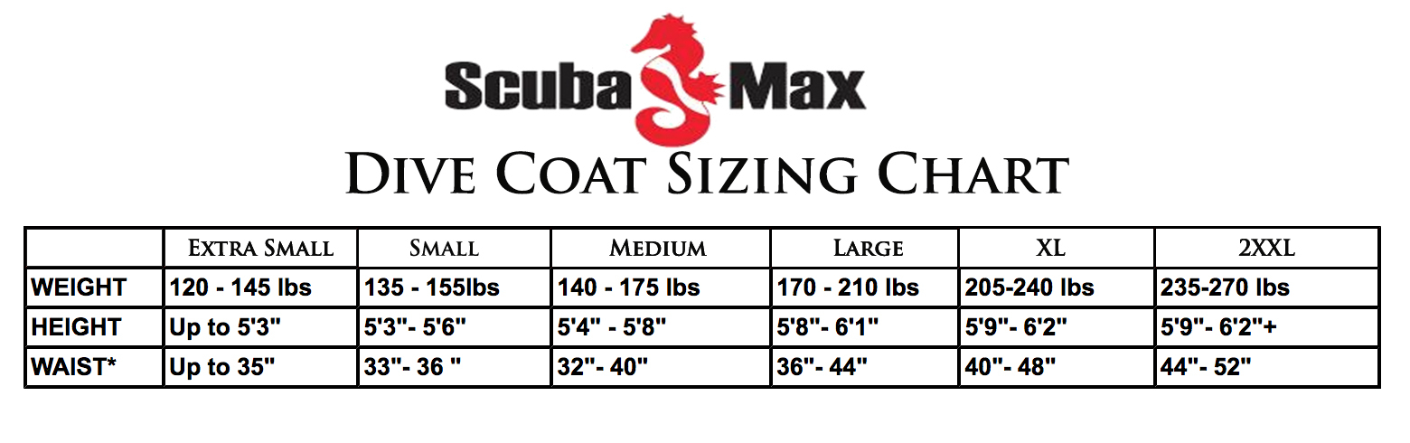 Size Chart for Dive coat
