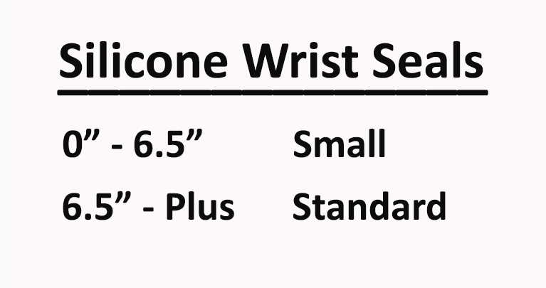 Size Chart for Silicone Wrist Seals