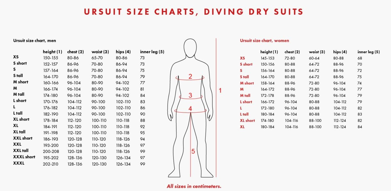 Size Chart for FIR Deep Heat Vest System